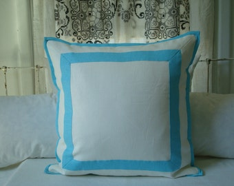 Border Pillow Cover In Your Choice Of Colors With Reversible Back