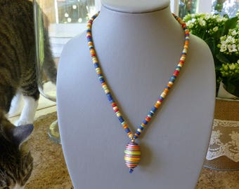 Multi color summer necklace