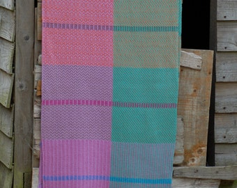 Handwoven shawl, hand woven scarf, weaving, over sized scarf, linen shawl, cotton shawl, wrap, gifts for women, woven, Scotland.
