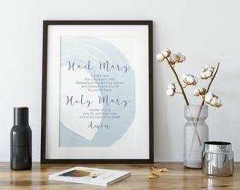 Christian Printable, Scripture Printable, Christian Wall Print, Home Decor  Print, Catholic Printable