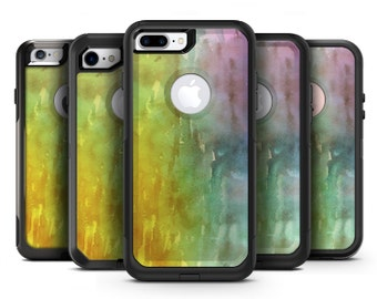 Green 592 Absorbed Watercolor Texture - OtterBox Case Skin-Kit for the iPhone, Galaxy & More