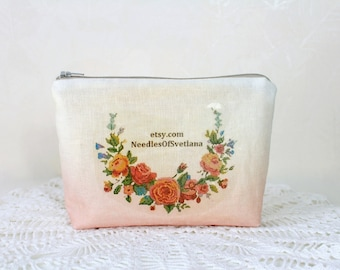 Makeup bag personalized bag Unique gift for Women gift for Mother day gift Birthday gift Cosmetic bag Makeup storage bag for women