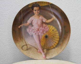 """Collectable - """"Katie The Tightrope Walker"""" by John McClelland, Limited, KNOWLES PLATE w/ Certificate of Authenticity and Original Box"""