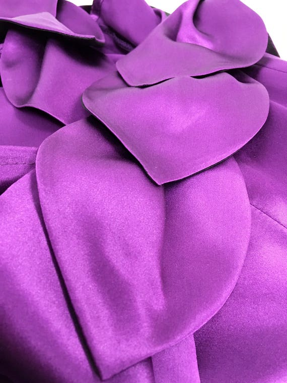 petal silk silk Purple charmeuse dress charmeuse dress Purple petal wfq4Hxa0