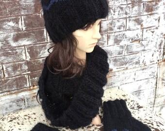 ANGEL HAIR COWL, Hand Knit Soft Cowl