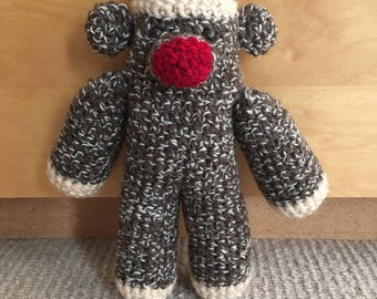 Original Crochet Sock Monkey