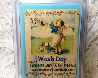 Wax Melts, Wash Day, Candle Tarts, Clean linen, candle melts,  Moeggenborg Sugar Bush