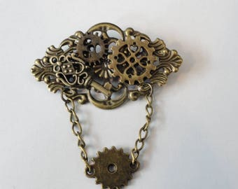 Steampunk Brooch Pin