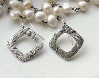 Handcrafted Fine Silver Earrings