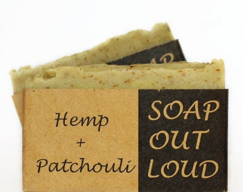 Hemp + Patchouli, Luxurious Natural Soap with Organic Ingredients