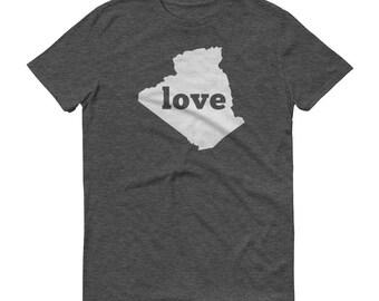 Algeria, Algerian Clothing, Algeria Shirt, Algeria T Shirt, Algeria TShirt, Algeria Map, Algeria Gifts, Made in Algeria, Algeria Love Shirt