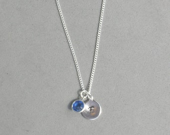 September and HS Initial Necklace HSB