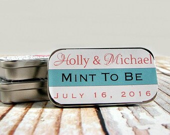 Custom Wedding Lip Balm - Mint To Be Wedding Favor - Mint To Be Favors - Unique Wedding Favor -  Lip Balm Favor - Wedding Favor Idea