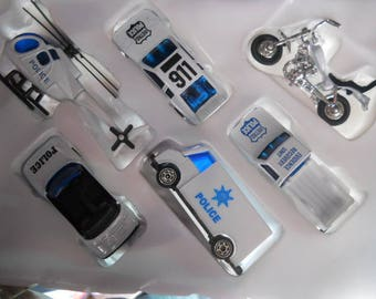 Police 6 Pc Vehicles Diecast Toy Play Set Pretend Play  # Ty29