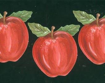 Lot 3 paper ornaments painted Klumpies apples
