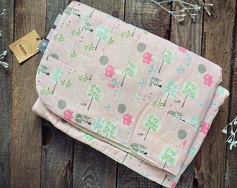 Eco-friendly baby blanket- foxes
