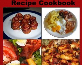 Over 1800 Delicious Bacon Recipes E-Book Cookbook Instant Digital Download