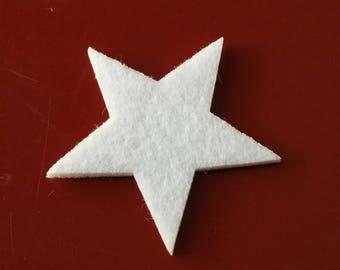 Stars white thick felt - large model / party Decoration / Christmas