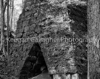 Entrance to the Furnace (b&w)