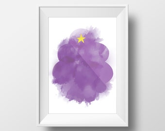 A4 - Lumpy Space Princess Adventure Time Poster, watercolor effect printable