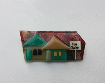 For Sale Vintage House Pin By Lucinda Artisan Maine