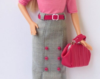 Barbie clothes - Barbie skirt, Barbie doll clothes, Fashion Royalty doll clothes, Poppy Parker, 12 inches action figure