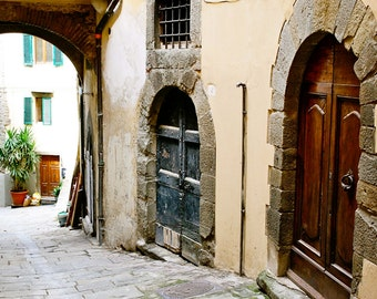 Tuscan Door Print - Italy Photography - Italian Home Decor - Rustic Wall Art - Montepulciano Photograph Photo Pictures of Doors