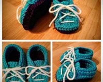 Handmade Crochet Infant Slippers