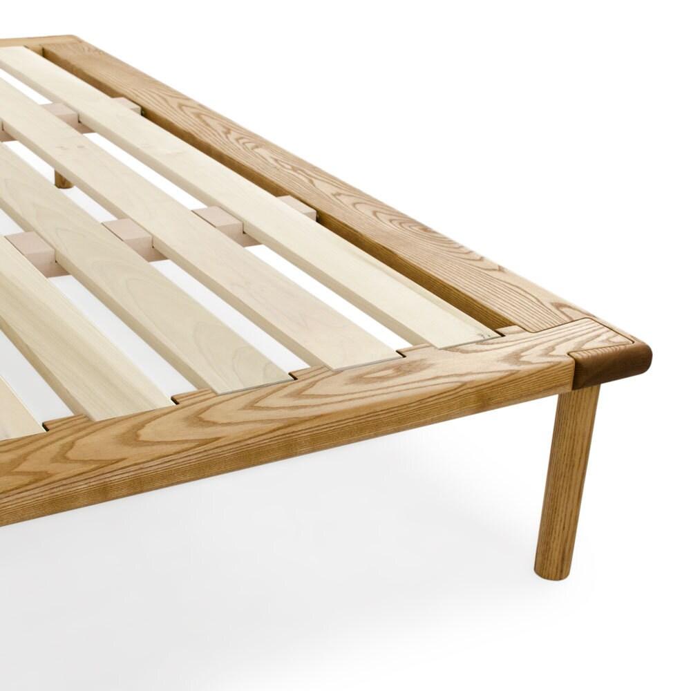Plataforma n º 4 cola de Milano marco cama en ceniza sólida