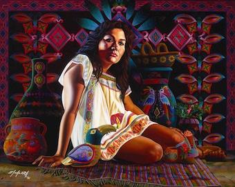 Vendo Mis Jarros // Giclee on Canvas