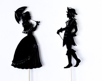 The Princess and the Pea: Shadow Puppet Set
