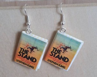 The Stand Book Earrings / Stephen King / Book Jewelry / Gifts for Her / Book Lover Gift / Librarian Gift / Gift for Mom / Teacher Gift