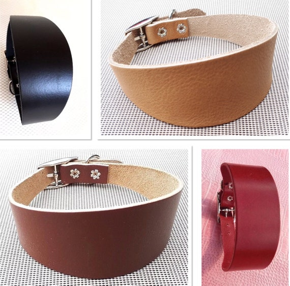 Greyhound and whippet collars real soft leather