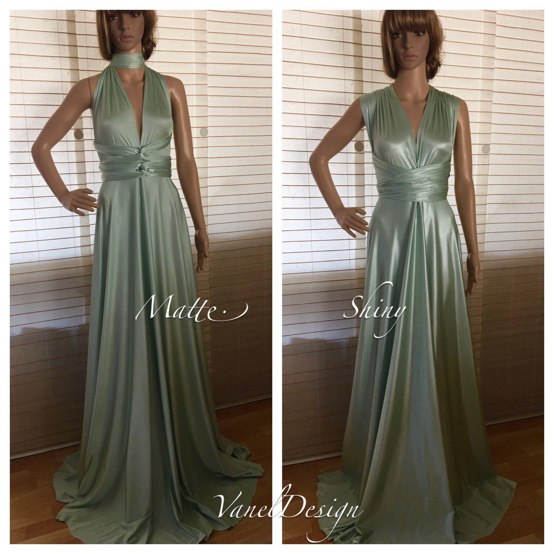 Bridesmaid dress sage color convertible bridesmaids dresses zoom ombrellifo Image collections
