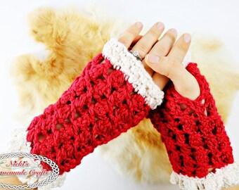 CROCHET PATTERN: Lacy Silk Fingerless Gloves *pretty *elegant *gorgeous *pdf download *digital instant download