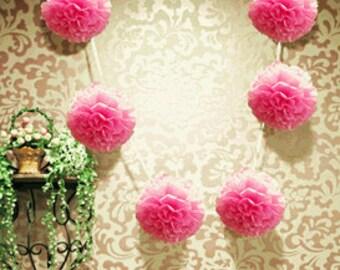 Pink Tissue Pom Pom Garland