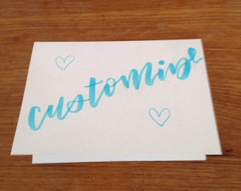 Customizable Card
