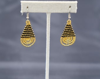 Women's Golden Beaded Earrings