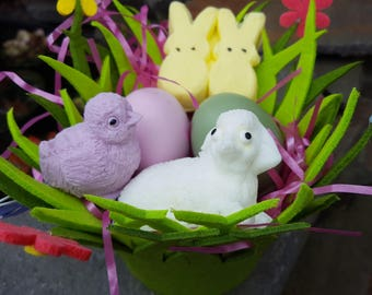 Easter Sweetness Soap Basket - Spring Soap- Candy Soap - Easter Eggs - Vegan Soap - holiday