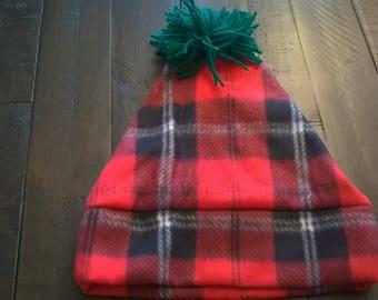 Fleece Hat Plaid