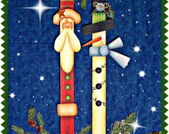 CC145 Santa and Snowman Paint Sticks - Painting E Pattern by Cyndi Combs