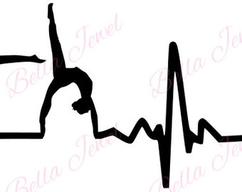 Gymnastic SVG, heartbeat svg, my heart beats for gymnastics svg, I love gymnastics svg,  I love gymnastics, svg files for cricut