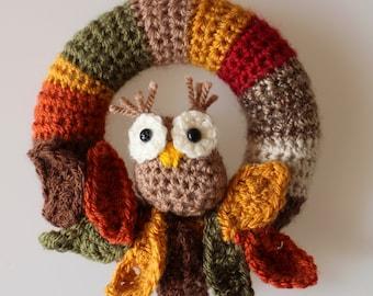 Autumn Owl Mini Wreath