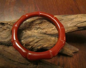 Bakelite Bamboo Design Bangle Bracelet