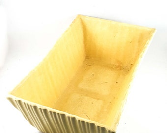Beautifully Ribbed Cookson Buttery Yellow Planter