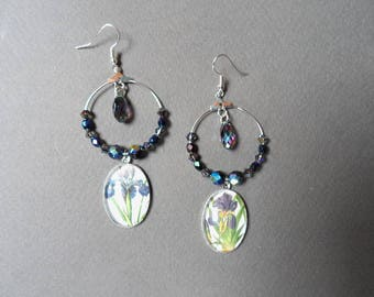 Iris mismatched earrings