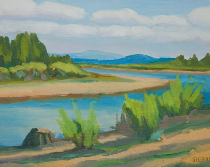 Original Landscape Painting Wickiup Banks Oil on Canvas