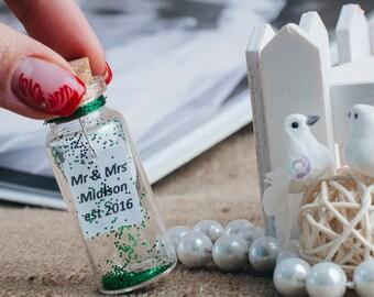 Irish Wedding Favors Green wedding party favors Spring wedding favors Summer wedding table favors Personalized mini bottle favors