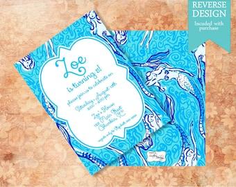 Monogram Party Invitation