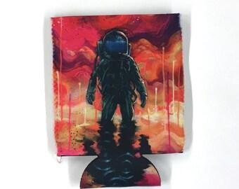 Spaceman Spliff Can Cooler by Black Ink Art
